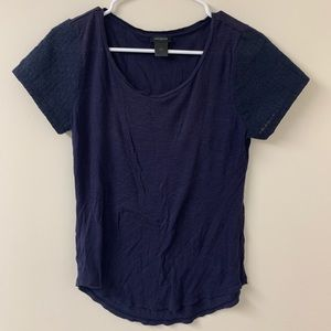 Navy Blue cotton Anne Taylor tee shirt